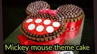 Mickey mouse theme cakeMickey mouse cakekitkat theme cake
