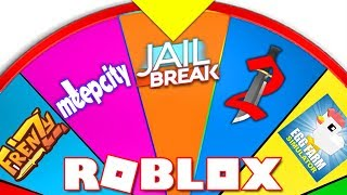 SPIN WHEEL DECIDES WHAT GAME I PLAY!! (Roblox)