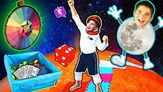IRL World Giant NASA Board Game! Outer Space 👽 Martian Fun by HobbyKids
