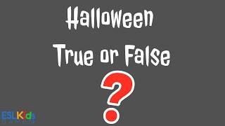 Esl Halloween Game: True Or False