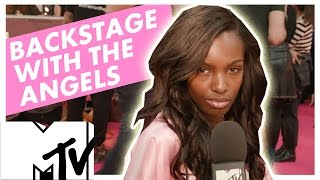 Backstage With The Angels At The Victoria's Secret Fashion Show 2016 | Leomie Anderson | MTV