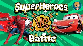 SpiderMan Cartoon SuperHeroes Battle - Cars 3 Lightning McQueen Game for Kids iOS with Gertit thumbnail
