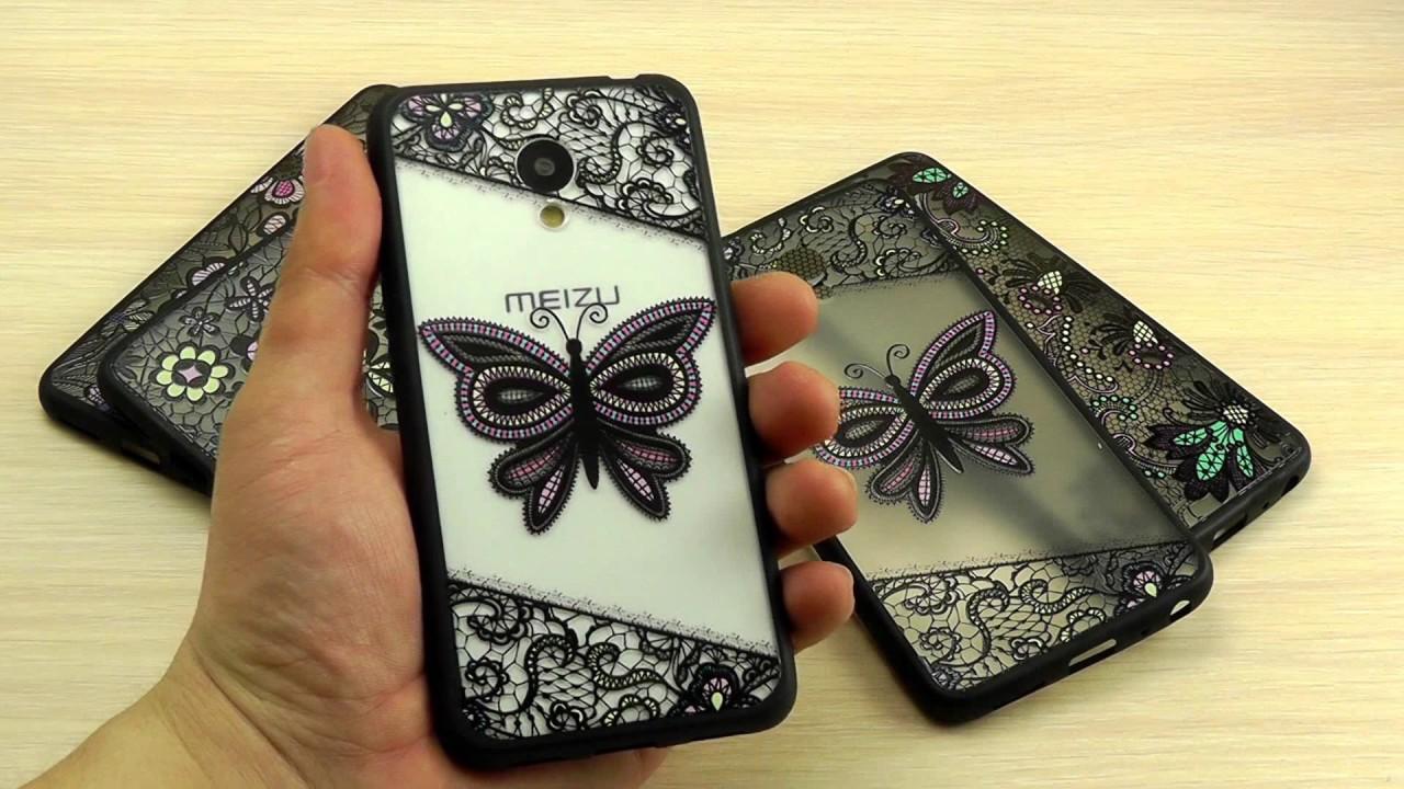Кажаный ЧЕХОЛ для Meizu M3 Note(Meizu M5 Note) распаковка и обзор .