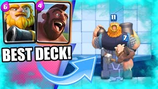 Clash Royale - BEST Hog Rider + Royal Giant Deck! - Strategy For Arena 7, 8, & 9!