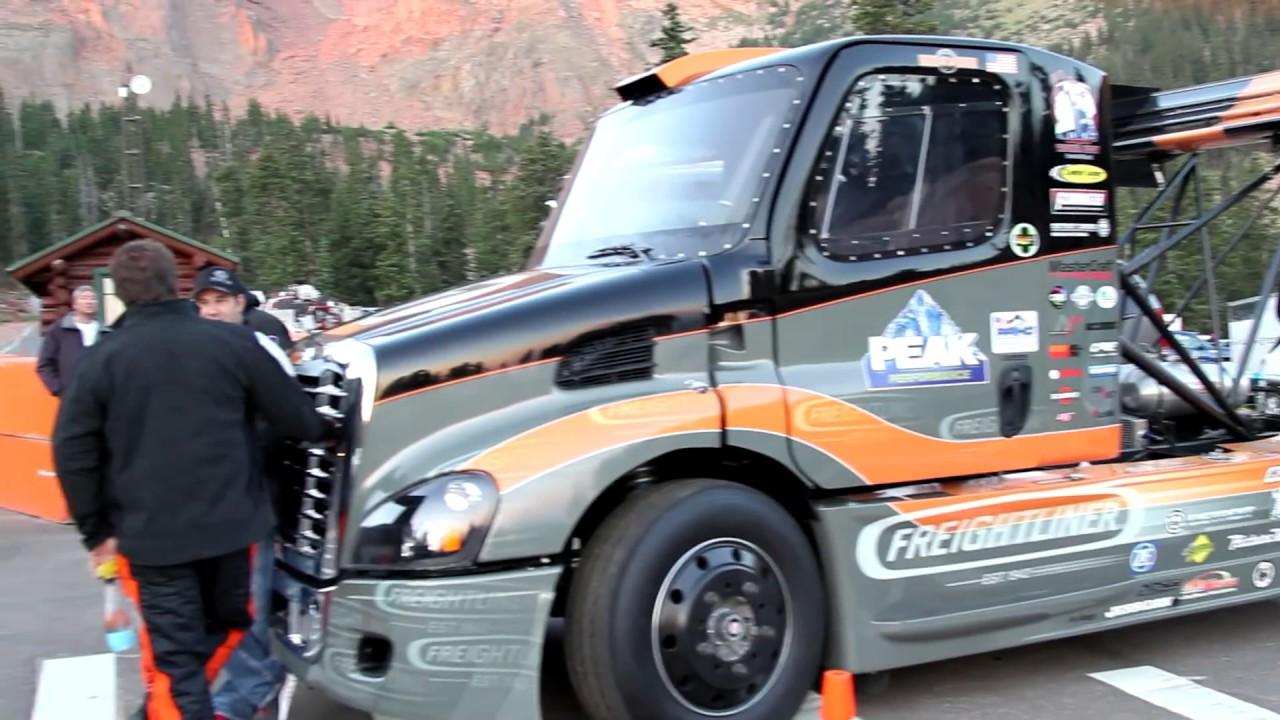 Pikes Peak 2017 Race Semi Gymkhana Drift Truck Size Matters