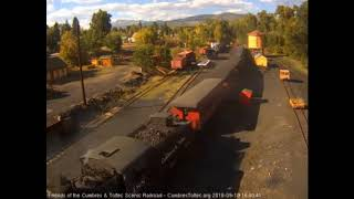 9/18/2018 Ten car train 215 arrives into Chama, NM