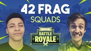 One of Ninja's most viewed videos: Ninja & Myth 42 Frag Squad Gameplay - Fortnite Battle Royale Gameplay