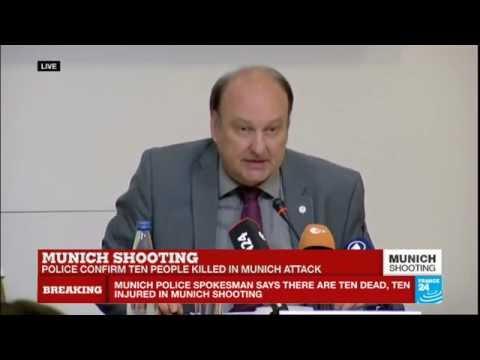 Munich attack: 10 dead including gunman, 16 injured says Bavaria police chief
