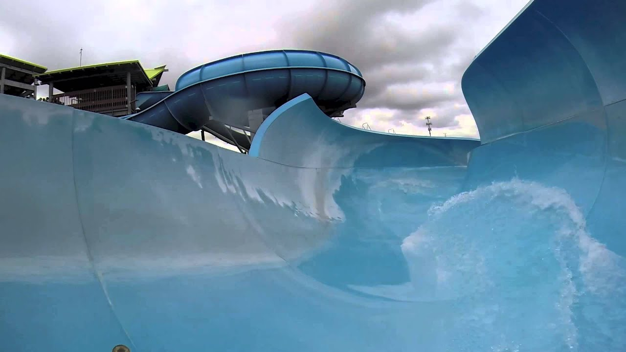 walhalla wave - big tube water slide : hd pov - aquatica water park
