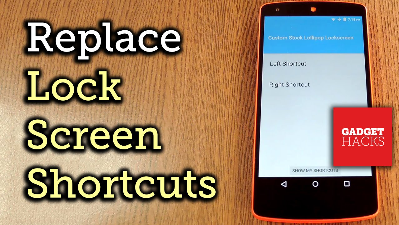 Get Custom Lock Screen Shortcuts on Stock Lollipop [How-To]