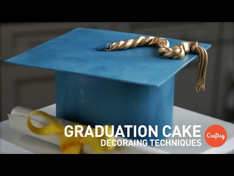 Graduation Cake Ideas (Modeled Sugar Cap) | Gumpaste Cake Decorating Tutorial
