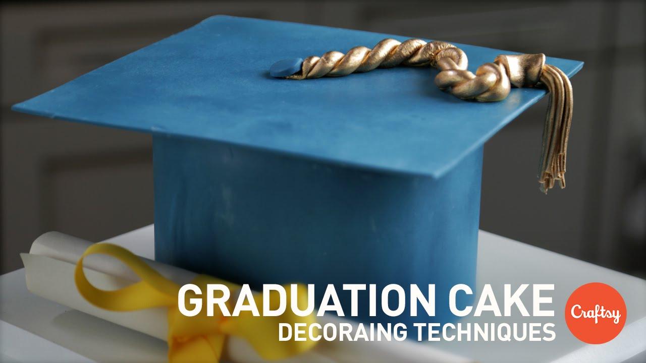 Graduation Cake Ideas Modeled Sugar Cap Gumpaste Cake Decorating