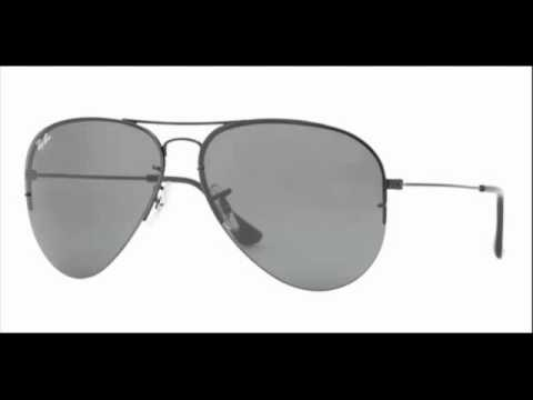 89e4a02dc4536 Ray-Ban Flip Out Aviator Black RB 3460 002-71 Sunglasses - YouTube