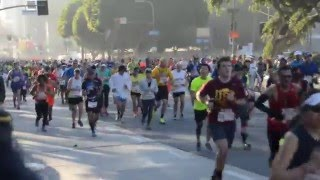 Runners come up the hill for the 2016 Sketchers' LA Marathon