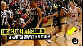 OMG HIS ANKLE GOT DESTROYED! RJ Hampton Snapped in Playoffs!
