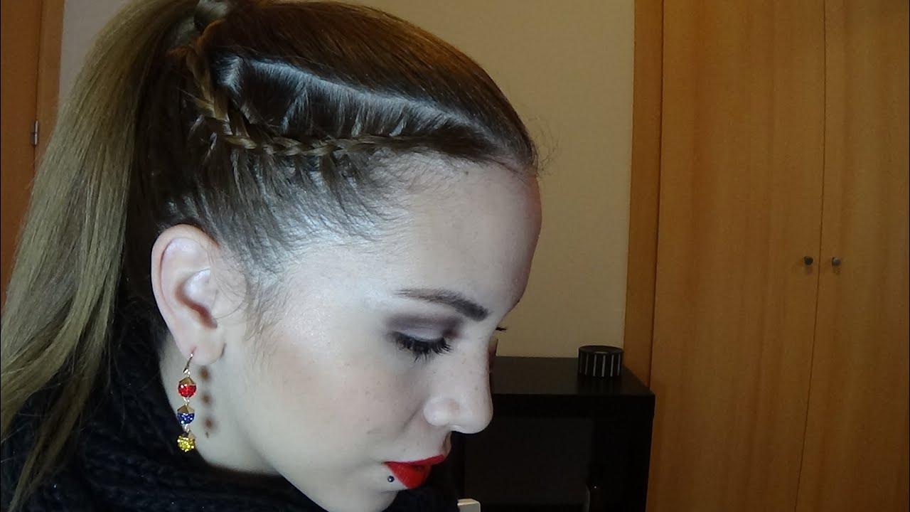 Peinados faciles con trenzas trenzas con coleta youtube - Peinados recogidos con trenzas ...