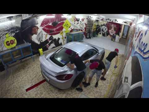 Porsche Cayman GT4 wash in Armenia