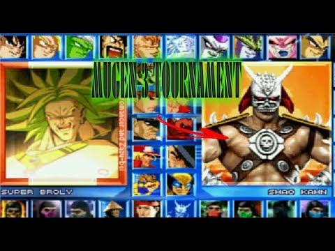Mugen 3 Tournament,Street Fighter,Mortal Kombat,kof,Dragon Ball Z PC + (download Grátis)