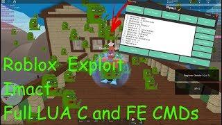 Neue Roblox Exploit / Hack:Impact(Patched)FE CMDs, full LUA C, und mehr!