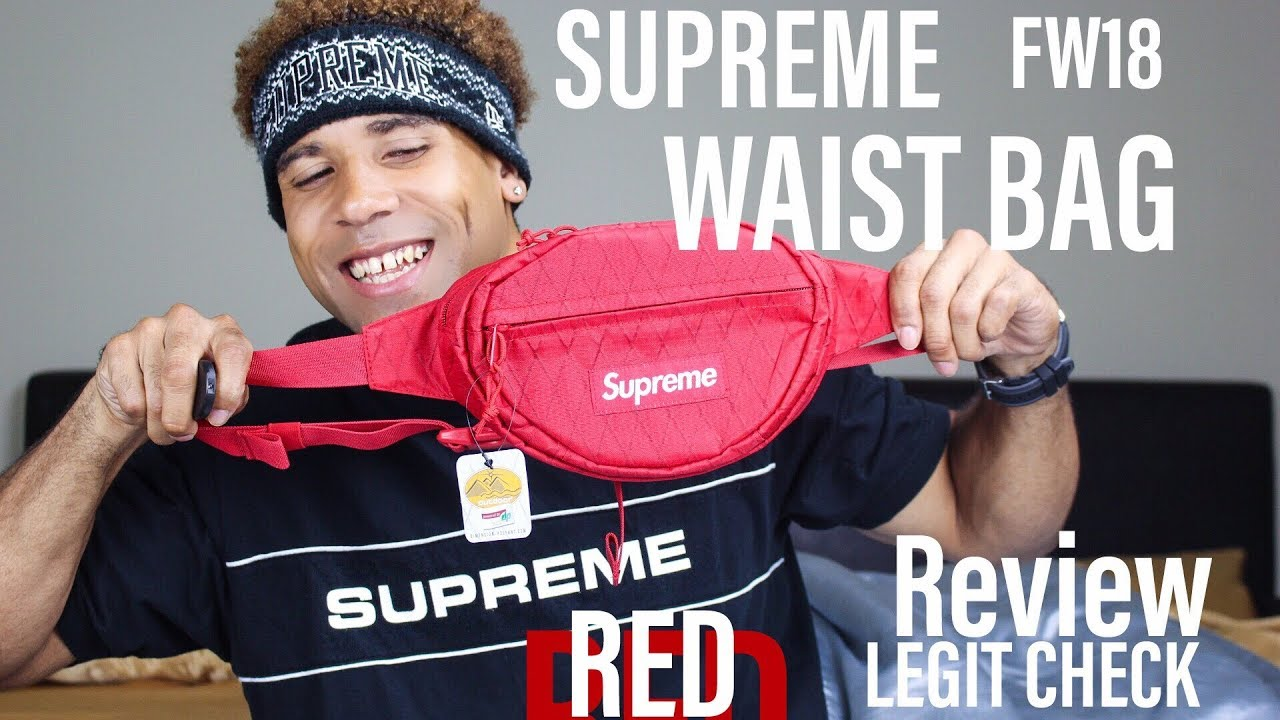 SUPREME FW18 WEEK 1 WAIST BAG RED *LEGIT CHECK/ REVIEW* BY JEREMY