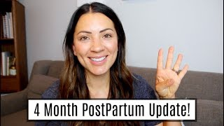 4 MONTH POSTPARTUM UPDATE | MY WEIGHT LOSS AFTER TWINS AND BEING 200 LBS.