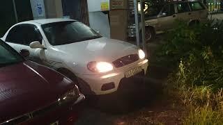 Daewoo lanos vượt trạm trong đêm về long khánh