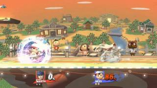 Super smash brothers 4 wii u Marth combo / death montage