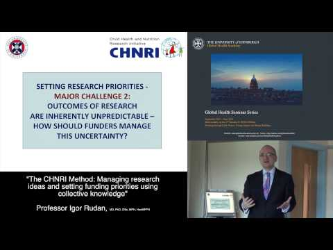 The CHNRI Method:  Managing research ideas and setting funding priorities using collective knowledge