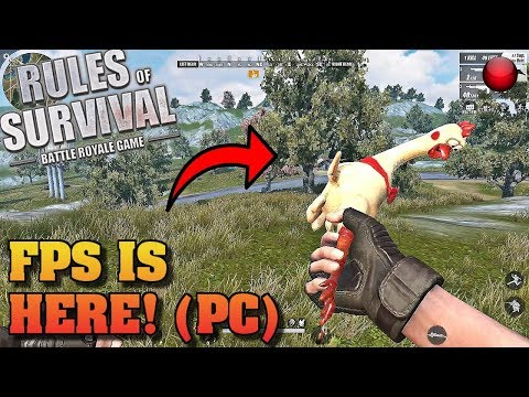 NEW First Person Mode Gameplay!! (Rules of Survival) *LIVE*