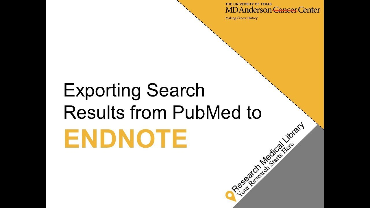 Exporting Search Results from PubMed to EndNote X8