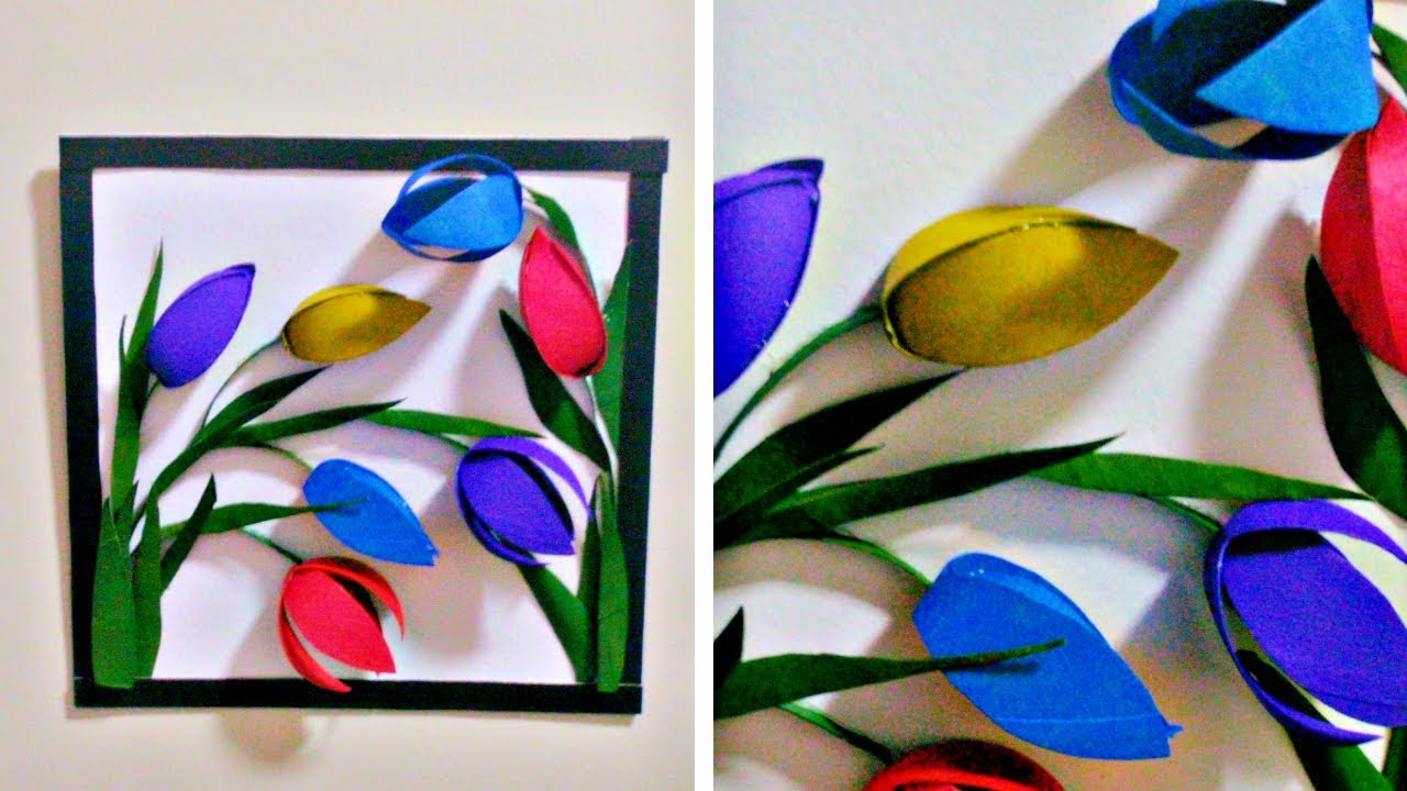 From Tissue Paper Roll To 3d Wall Decor Easy Diy Flower Wall Decor Art