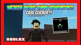 HACKED CASE CLICKER ITEMS WORTH MORE THAN PEWDIEPIE!! (Custom Clicker) | Roblox Gameplay