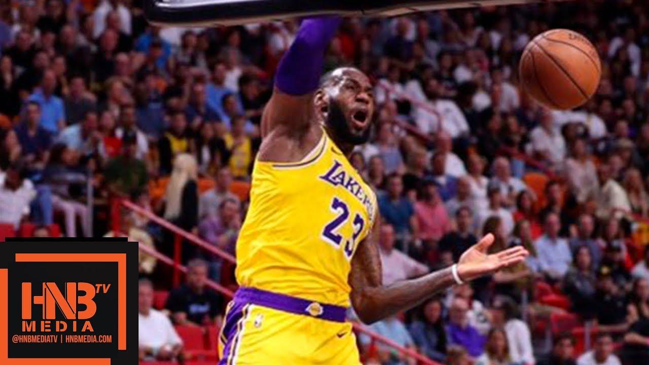 273e72d22a1 Los Angeles Lakers vs Miami Heat 1st Half Highlights