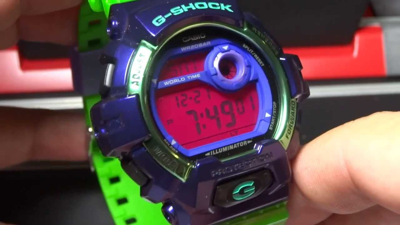 e1ef8baab CASIO G-SHOCK REVIEW AND UNBOXING G-8900SC-6 PURPLE GREEN CRAZY COLORS -  YouTube