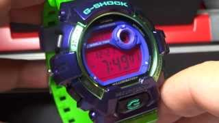 CASIO G-SHOCK REVIEW AND UNBOXING G-8900SC-6 PURPLE GREEN CRAZY COLORS