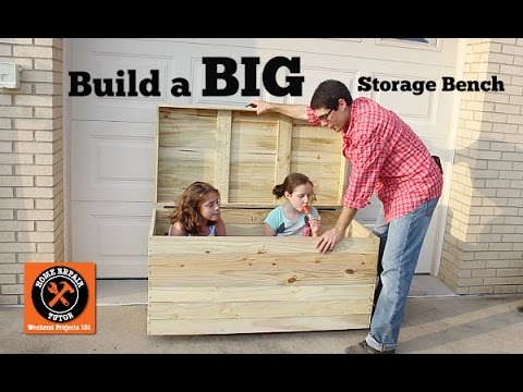 Build a BIG Outdoor Storage Bench -- by Home Repair Tutor ...