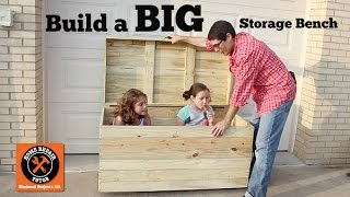 Build A Big Outdoor Storage Bench -- By Home Repair Tutor