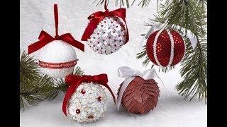 как расписать и украсить новогодние шарики