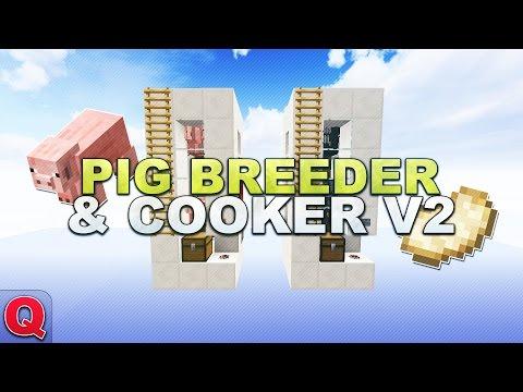Minecraft - Pig Farm/Breeder/Cooker V2 // Schweine Farm - (Quick) Tutorial 1.12