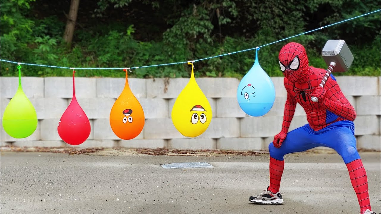Download Spider Man Popping Water Balloons!