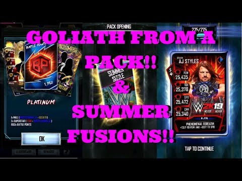 GOLIATH FROM A PACK!! & SUMMER FUSIONS!!  |  WWE Supercard #103 (Season 4)