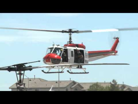 Police Rescue Helicopter Taking Off and Takeoff with Las Vegas Metropolitan Police Department LVMPD
