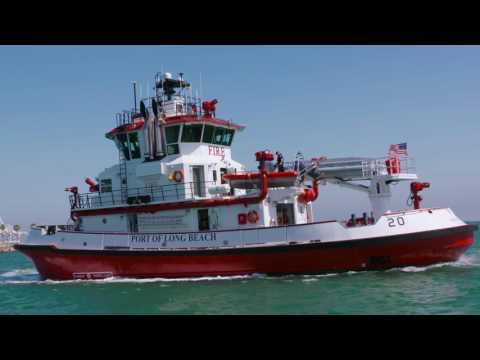 """New Port of Long Beach Fireboat - """"Protector"""""""