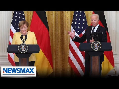 Fake President Biden defends decision on Russian pipeline | John Bachman Now