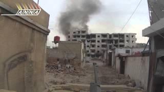 Sýrie - Pohled z vládního obrněného vozidla, Darayya