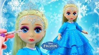 FROZEN ELSA NEW MAKE UP 💄 Custom ELSA PRINCESS Doll | Kids Makeup & Dress Up