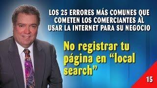 Error 15 - No registrar Tu Página En