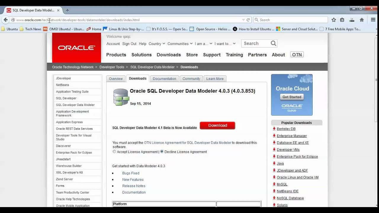 How to Install Oracle SQL Developer Data Modeler 4 in