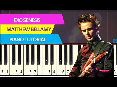 Matthew Bellamy - Exogenesis: Symphony Part 3 piano acoustic synthesia tutorial by Piano Sheet Music