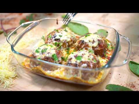 recette-boulettes-de-viande-hachée-farcies-aux-épinards---وصفة-كرات-اللحم-المفرومة-المحشوة-بالسبانخ